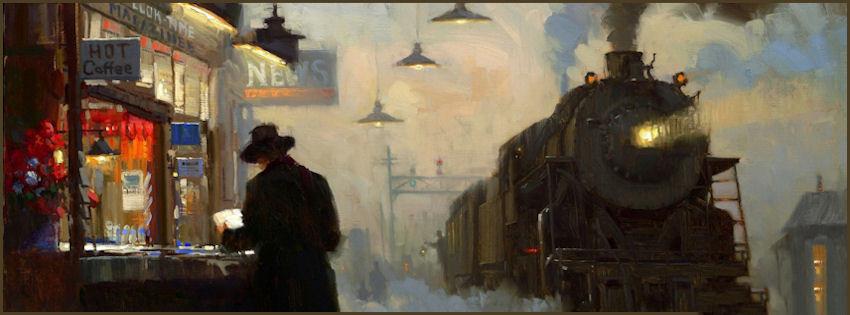 ảnh bìa tranh xe lửa