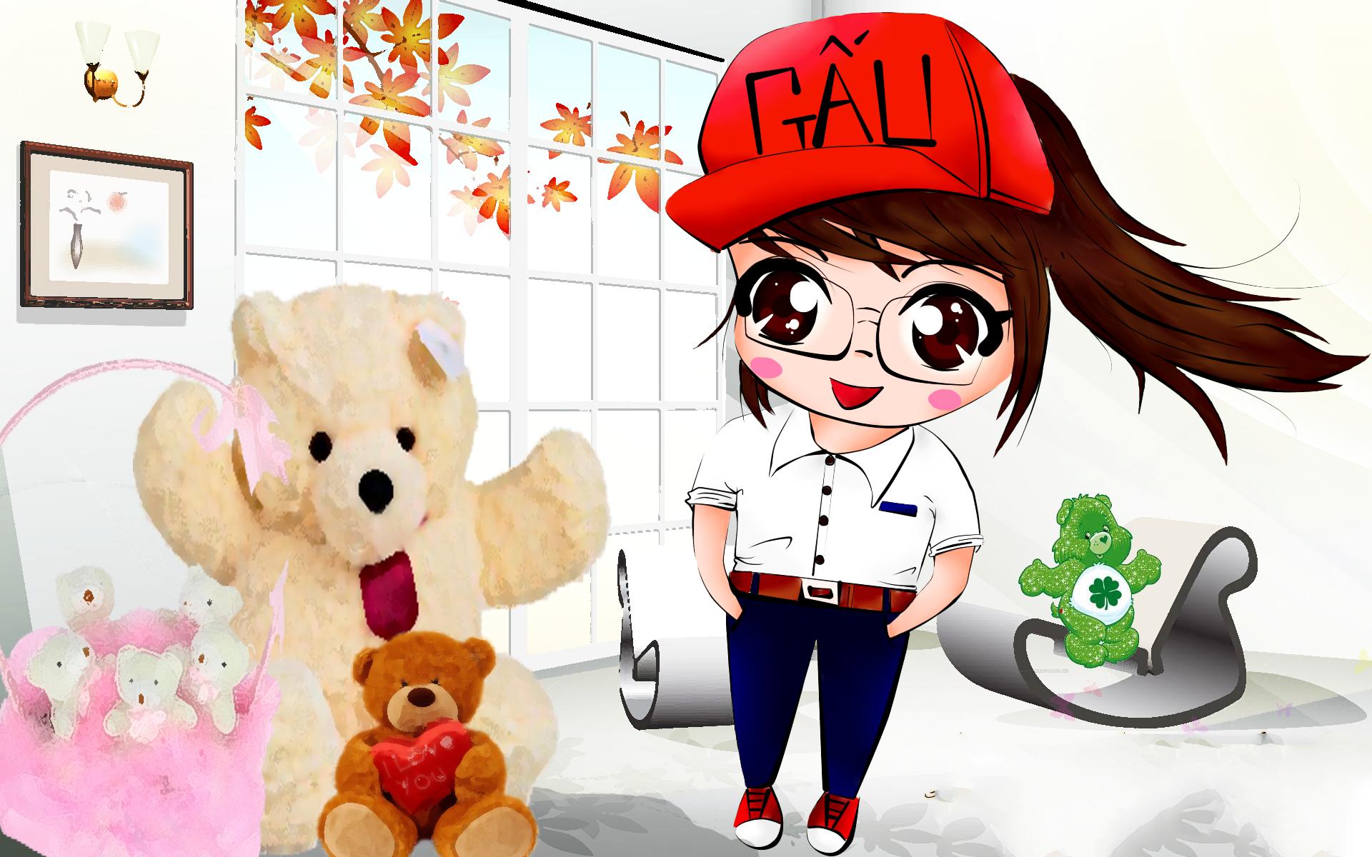 Ảnh avatar cô bé gấu