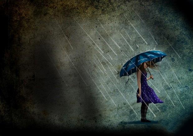 Ảnh avatar nỗi buồn dưới mưa