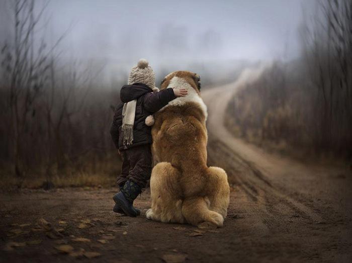 Ảnh đại diện cậu bé và chú chó