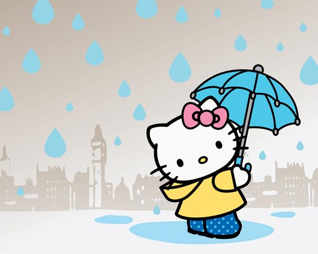 Ảnh đại diện kitty dưới mưa