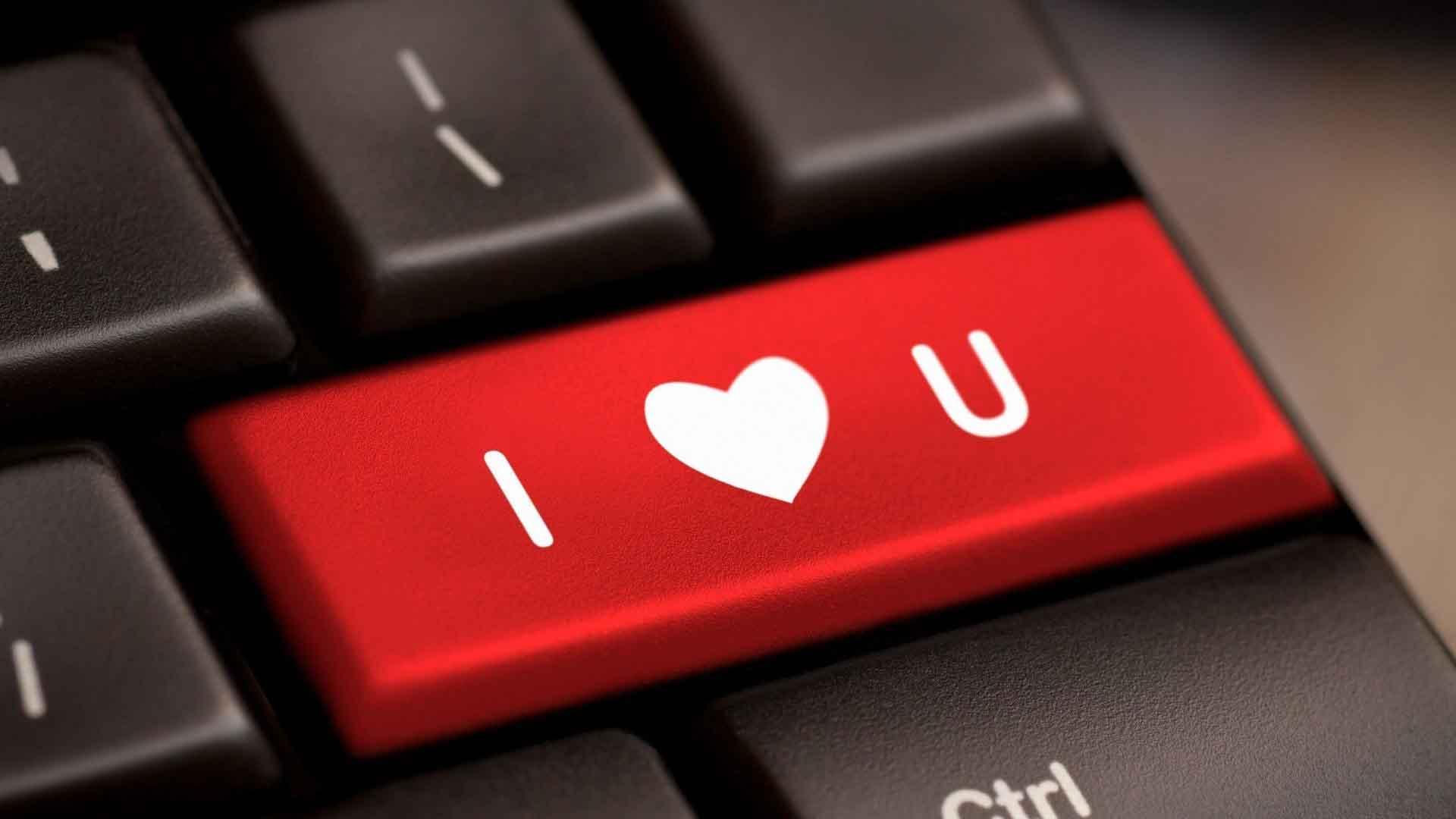 Hình ảnh bàn phím trái tim love U