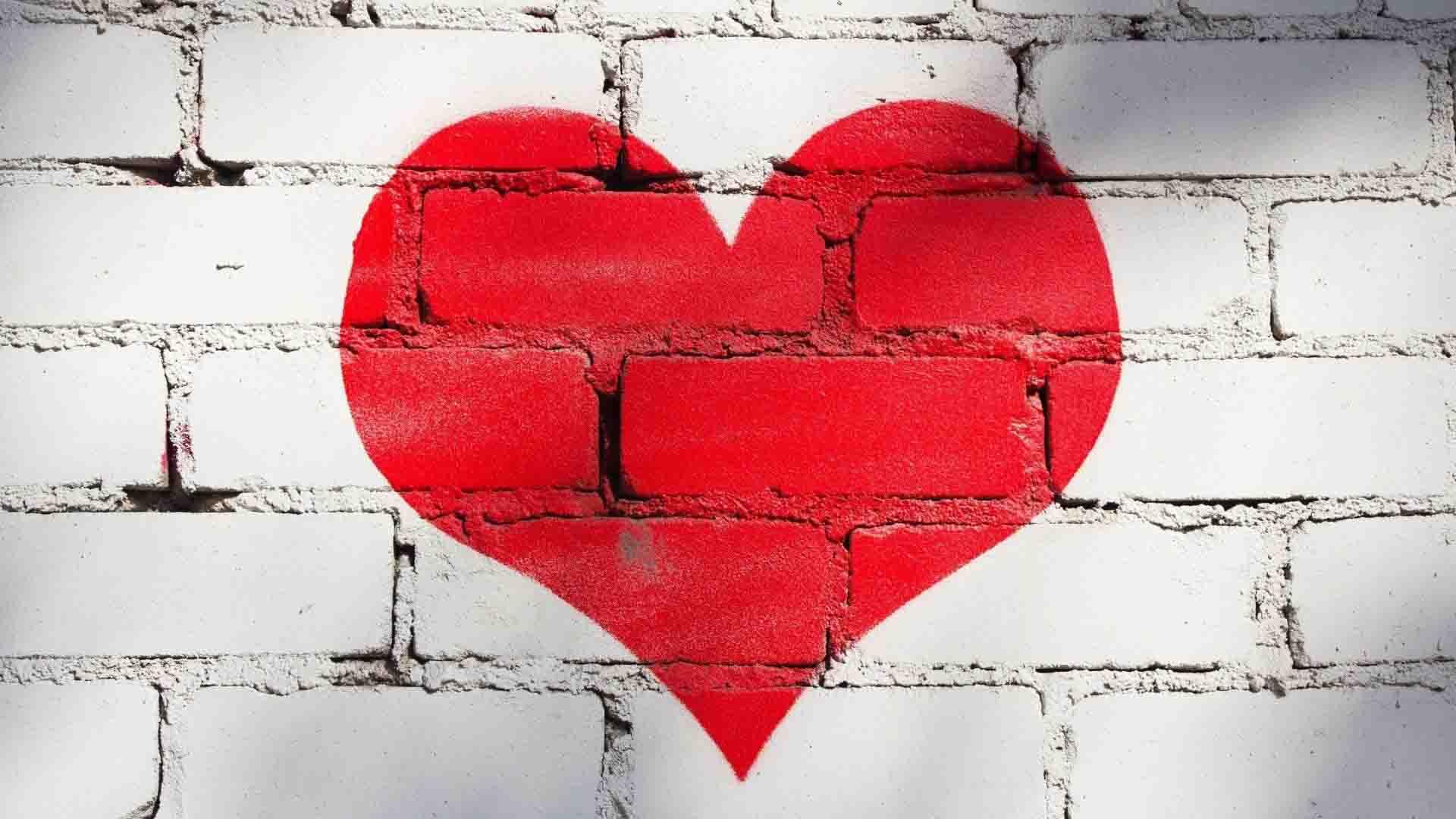 Hình ảnh bức tường trái tim
