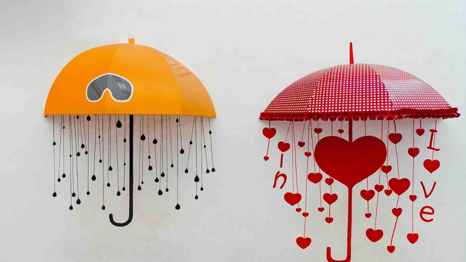 Hình ảnh cơn mưa trái tim