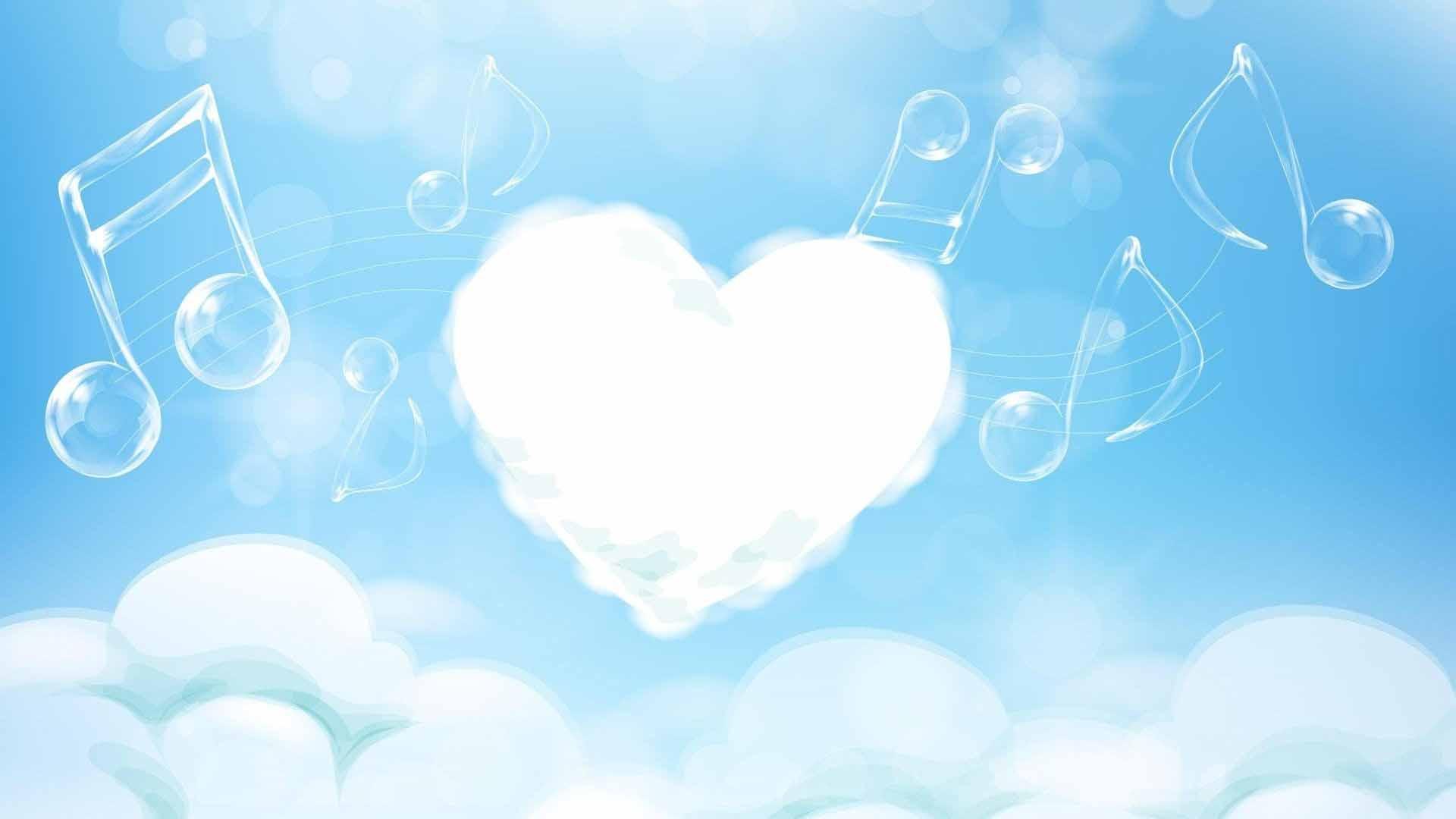 Hình ảnh mây trái tim âm nhạc
