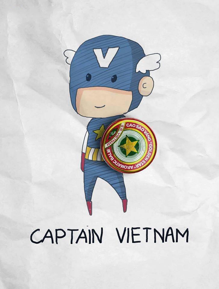 Ảnh captain Việt ngộ nghĩnh