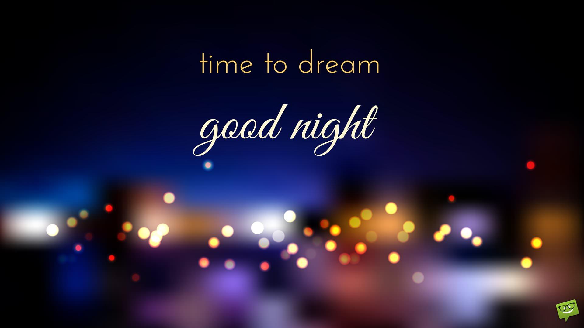 Ảnh chúc bé ngủ ngon time to dream