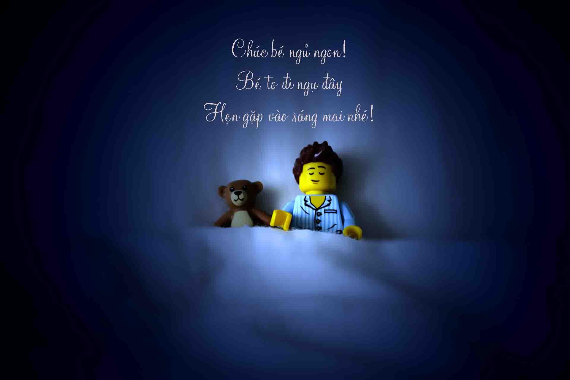 Ảnh chúc ngủ ngon hoạt hình lego