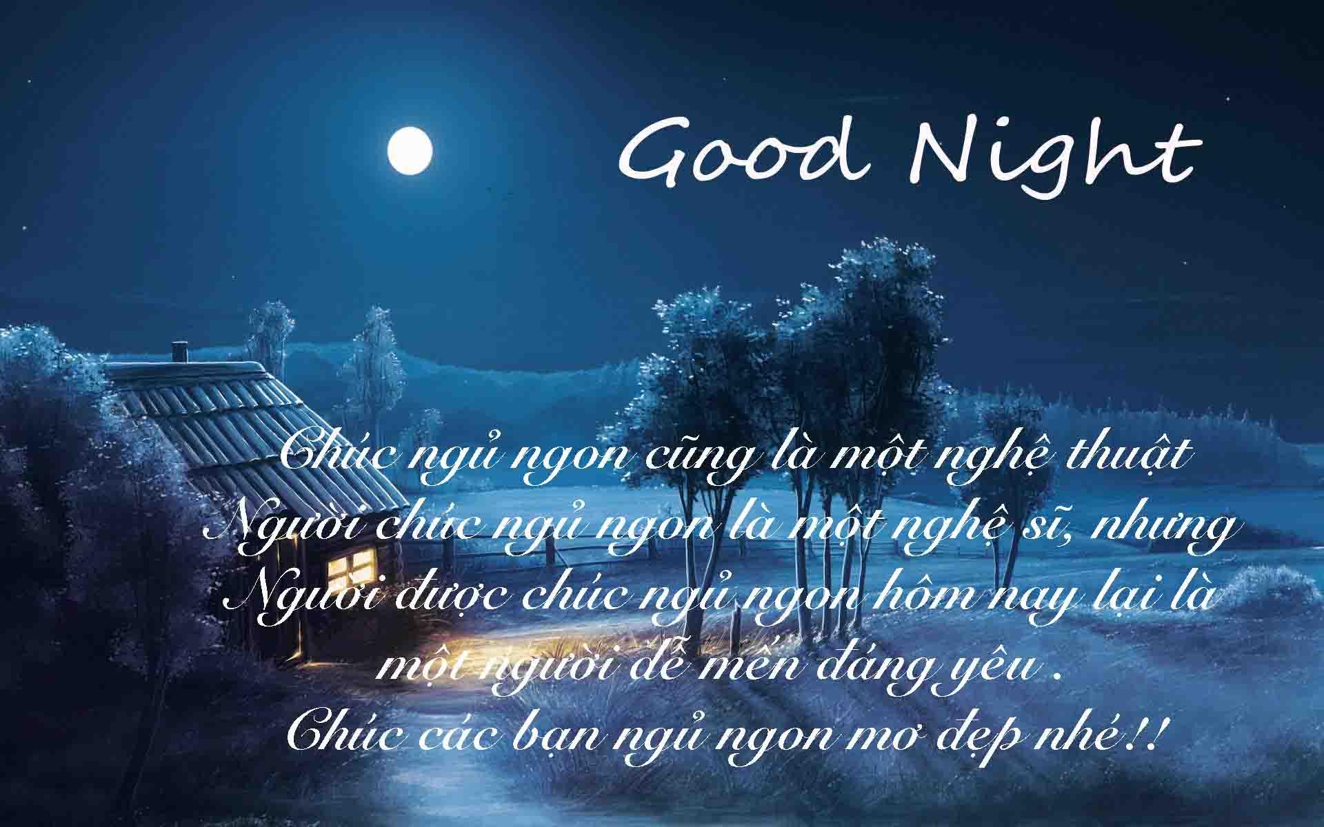 Ảnh good night lãng mạn