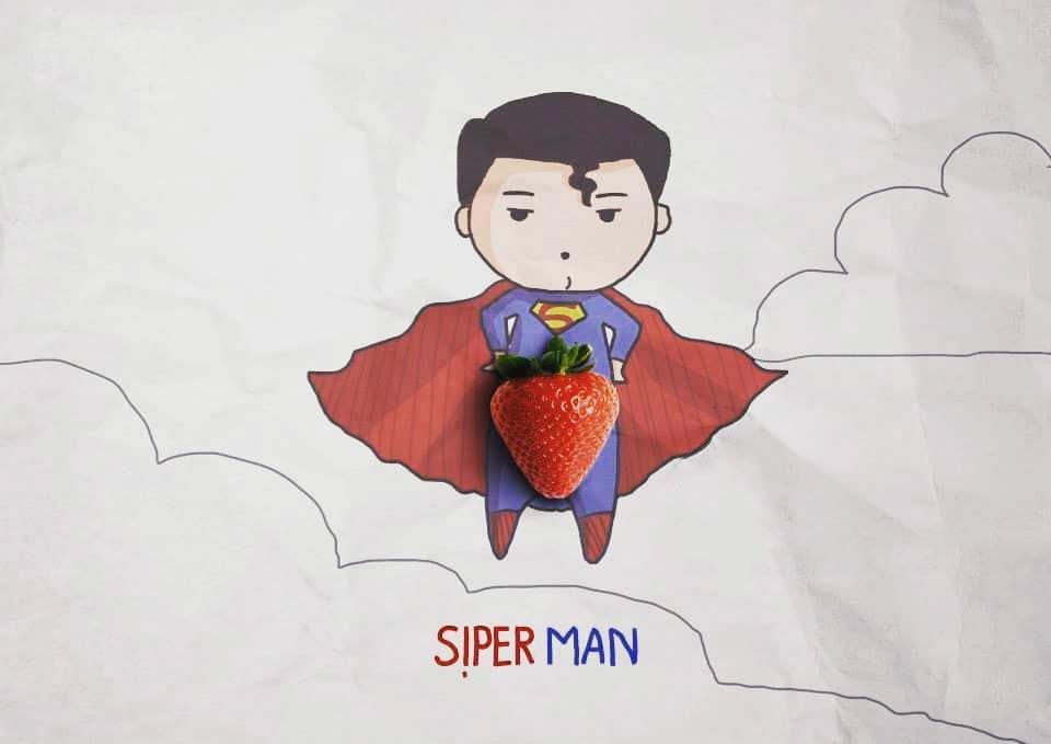 Ảnh superman ngộ nghĩnh độc đáo