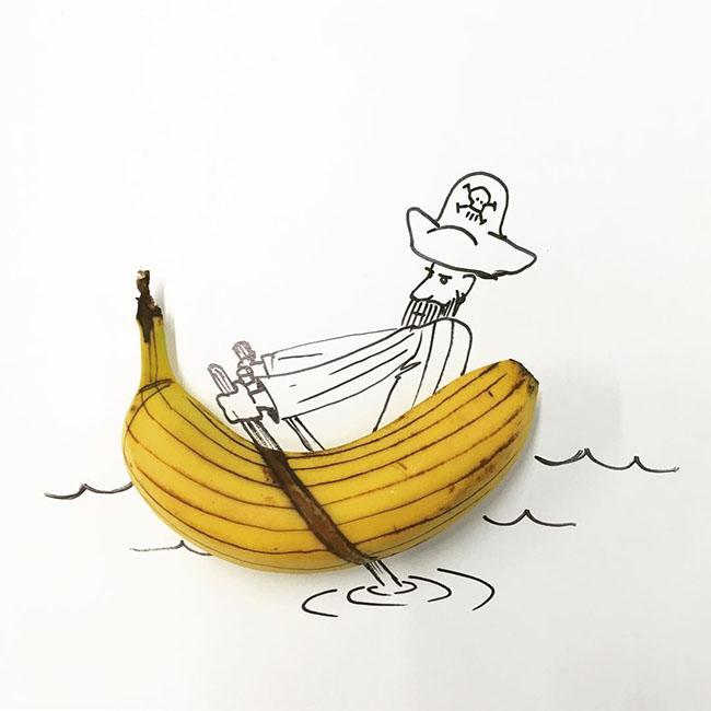 Ảnh thuyền chuối ngộ nghĩnh