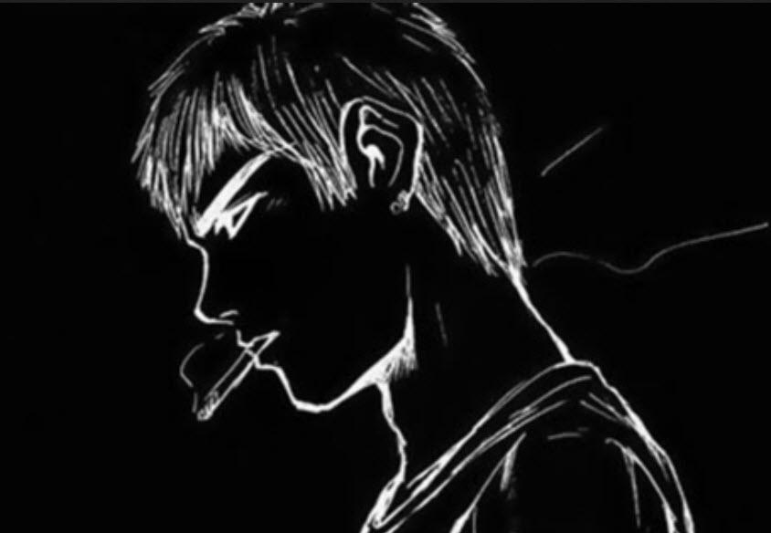 avatar buồn màu đen