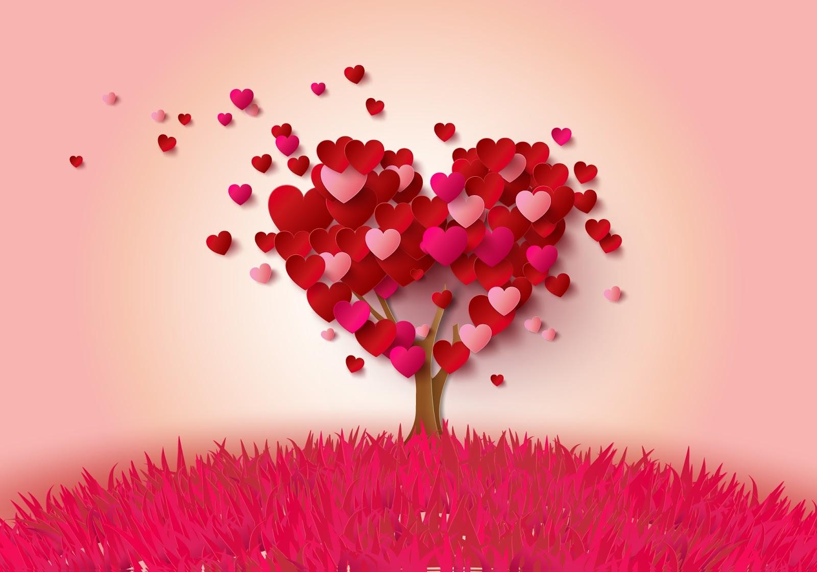 Hình ảnh cây trái tim đẹp