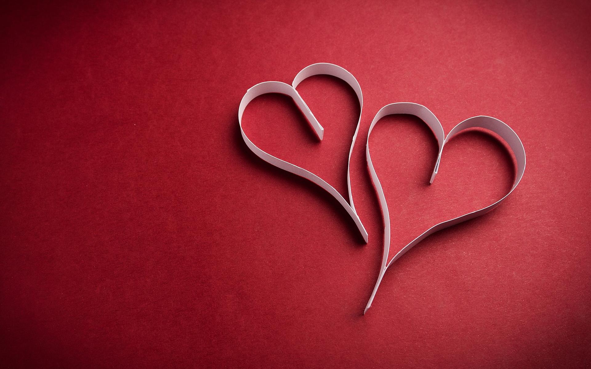 Hình ảnh hai trái tim tình yêu dễ thương