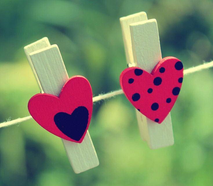 Hình ảnh những chiếc cặp hình trái tim đẹp