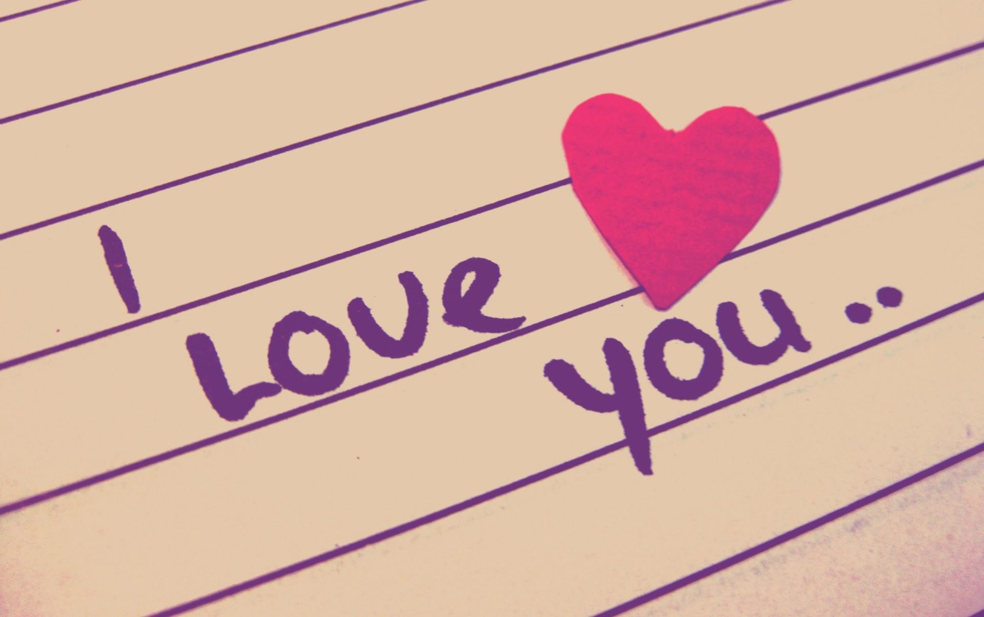 Hình ảnh tình yêu chữ I Love You đẹp