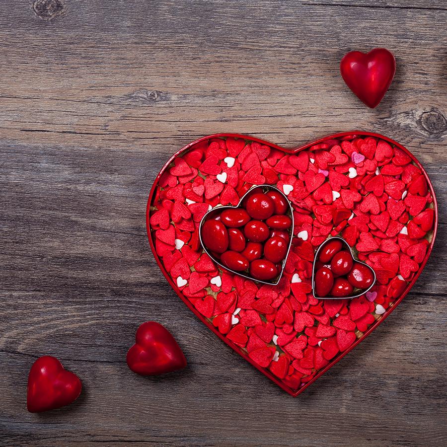 Hình ảnh trái tim màu đỏ dễ thương