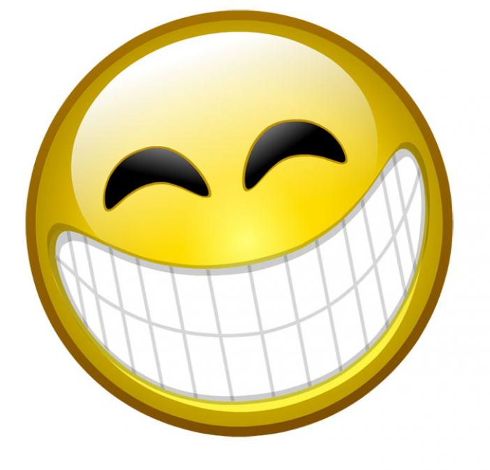 Hình mặt cười cười nhe răng