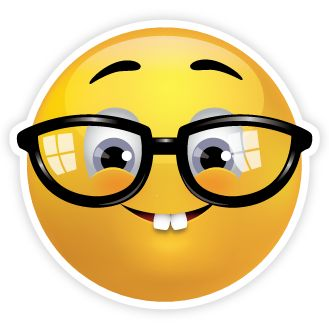 Hình mặt cười đeo kính phong cách