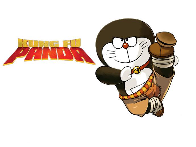 Ảnh chế doremon kungfu panda