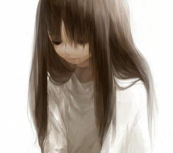 Ảnh đại diện facebook cô gái anime buồn khóc