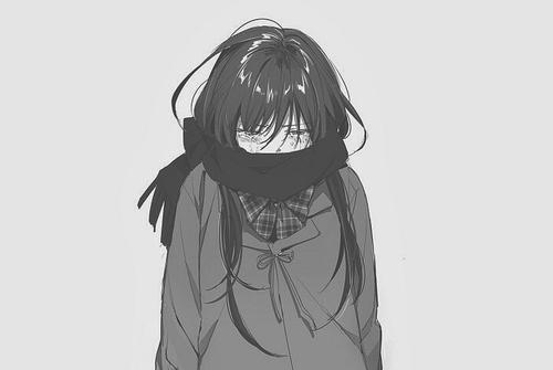 Ảnh đại diện facebook cô gái anime mang tâm trạng buồn
