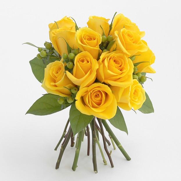 Hình ảnh bó hoa hồng vàng đẹp