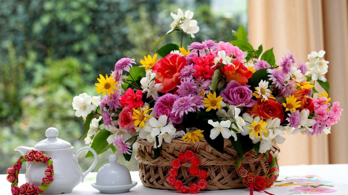 Hình ảnh lẵng hoa đẹp nhất