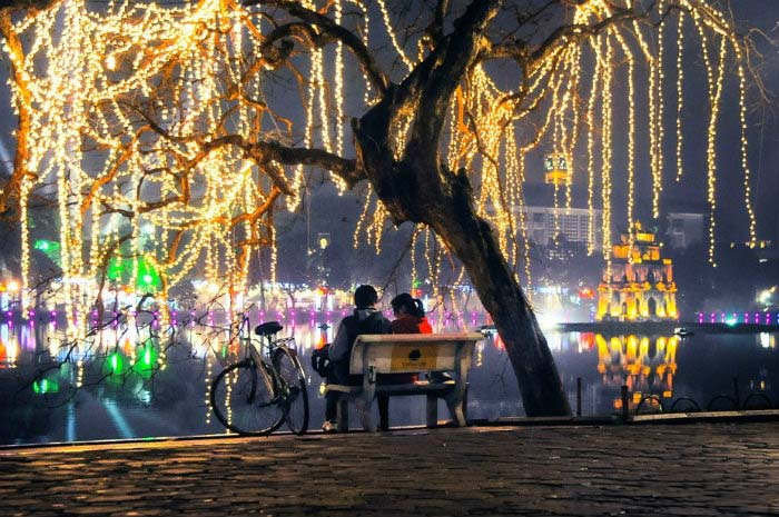Ảnh đẹp một góc hồ Gươm-Hà Nội về đêm
