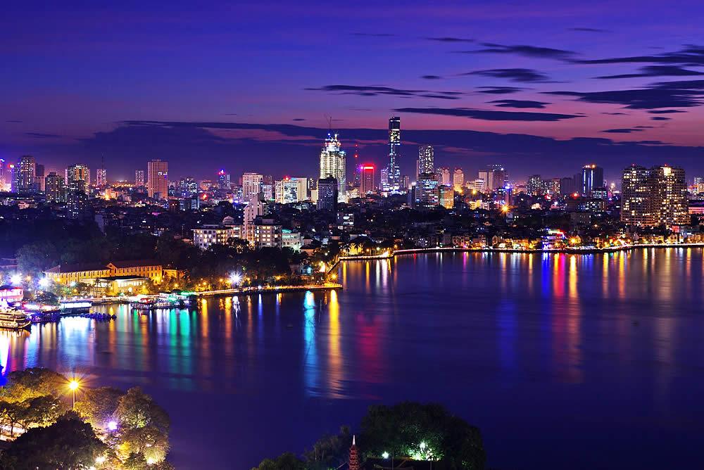 Ảnh đẹp một góc Hồ Tây-Hà Nội về đêm