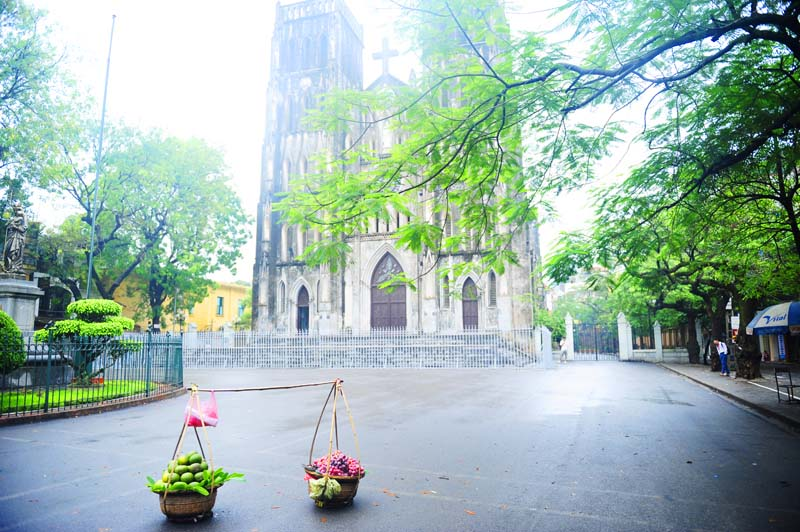 Ảnh đẹp một góc nhà thờ lớn Hà Nội