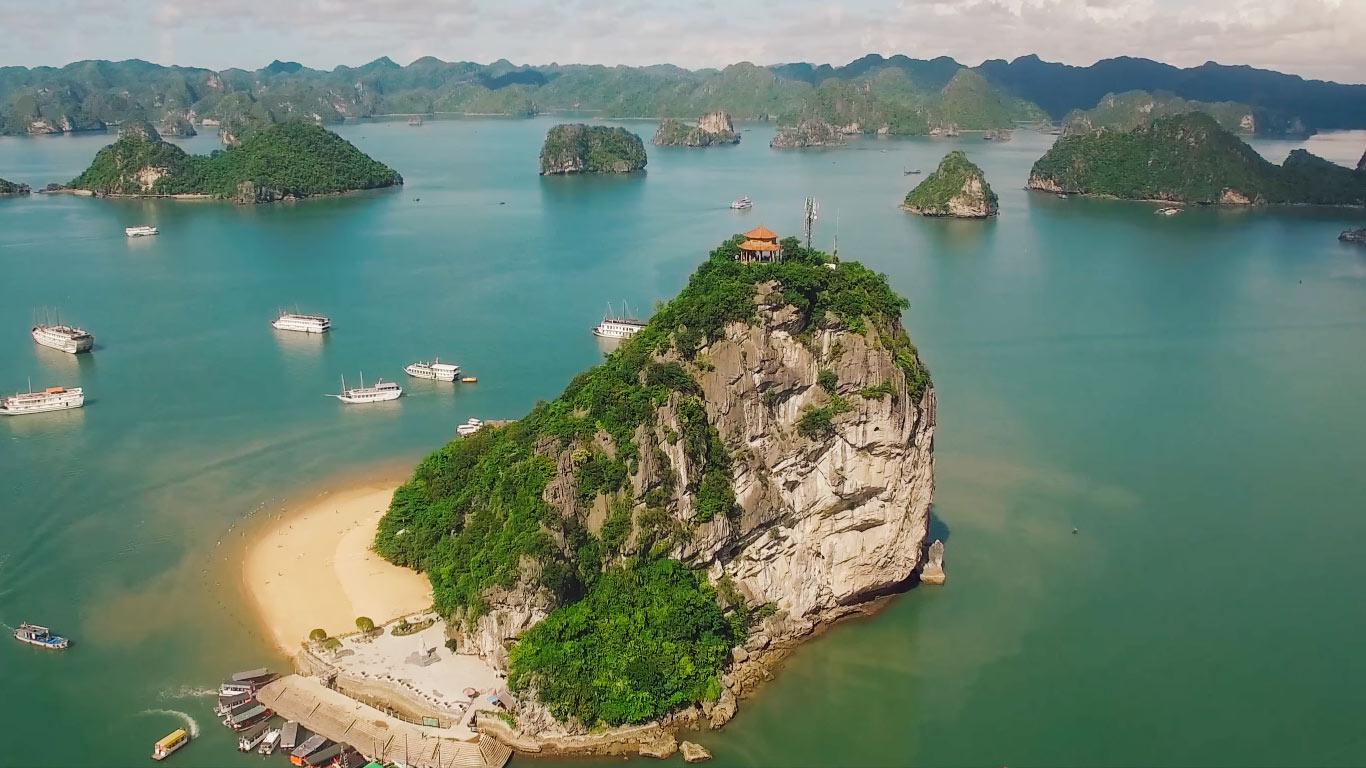 Ảnh hòn đảo Titop Hạ Long