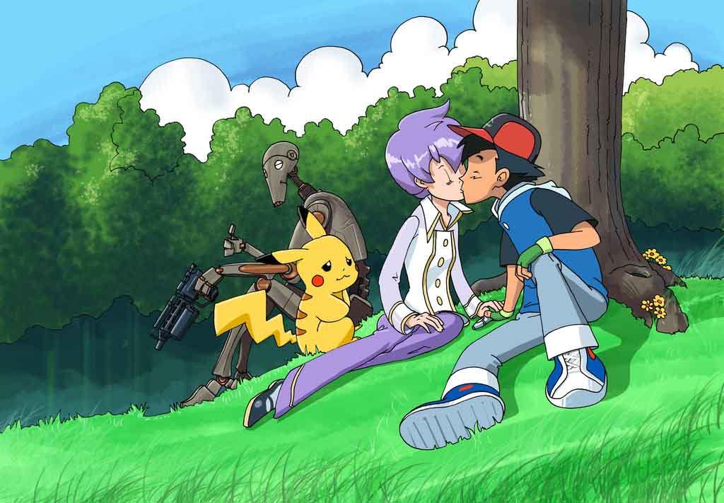 Ảnh satoshi pokemon hôn