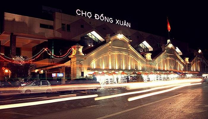 Ảnh vẻ đẹp chợ Đồng Xuân buổi tối