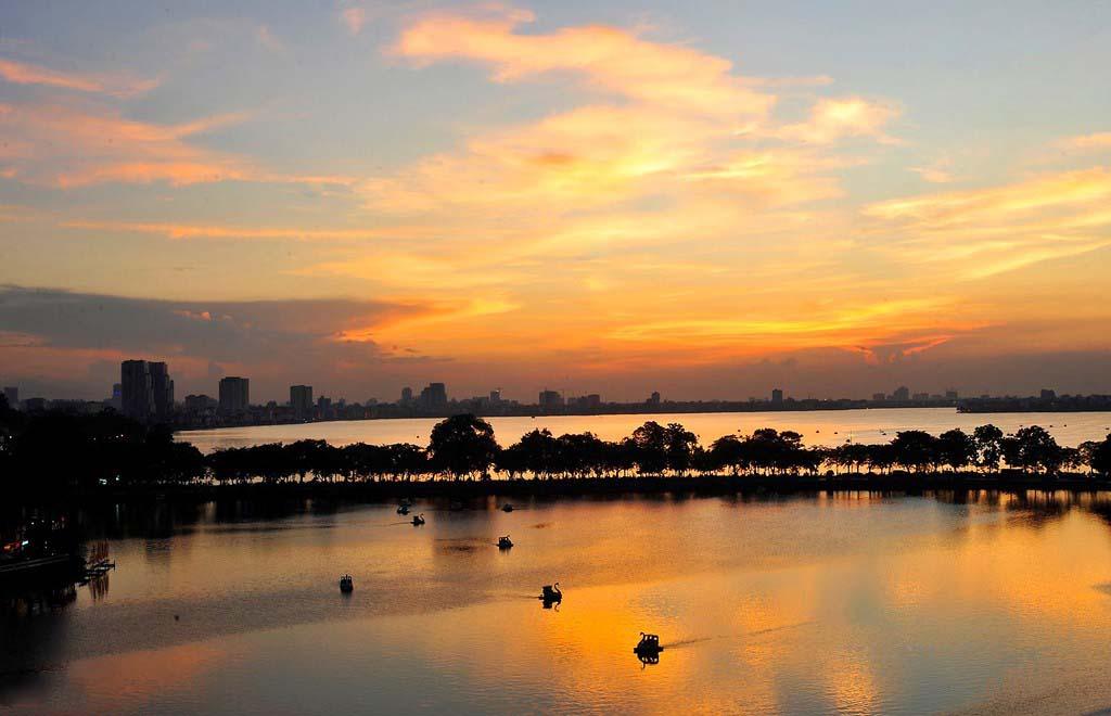 Ảnh vẻ đẹp Hồ Tây-Hà Nội xế chiều