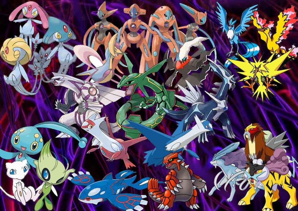 Hình ảnh bộ pokemon huyền thoại