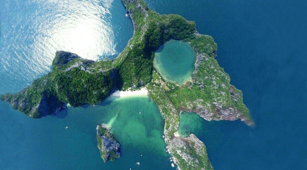 Hình ảnh đảo Mắt Rồng tuyệt đẹp ở Hạ Long