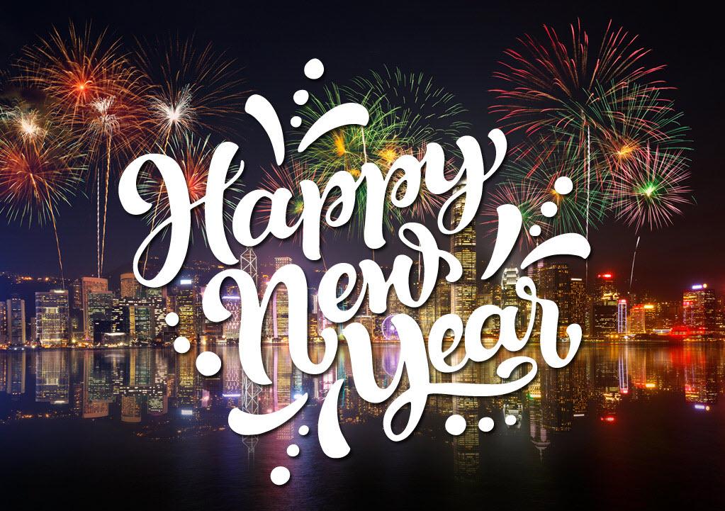 Hình ảnh Happy New Year pháo hoa đẹp