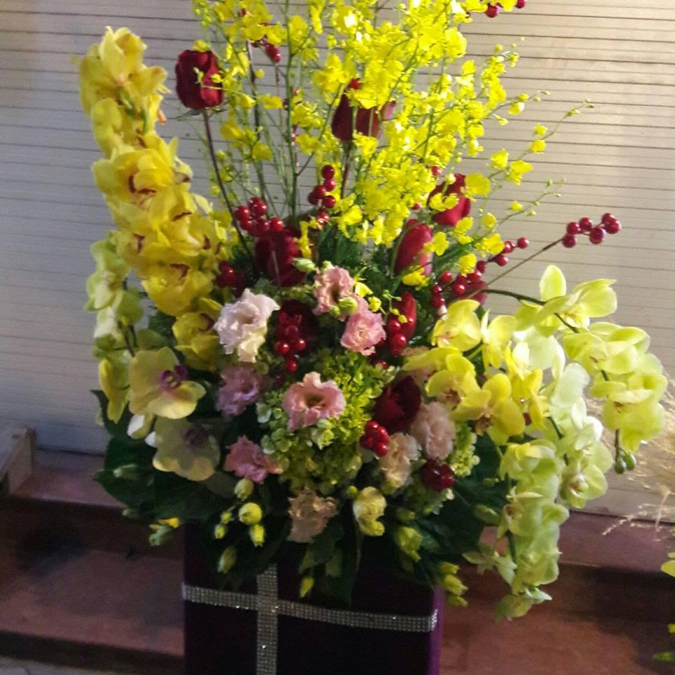 Hình ảnh lẵng hoa đẹp chúc mừng sinh nhật