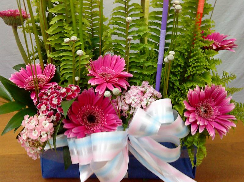 Hình ảnh lẵng hoa sinh nhật đẹp