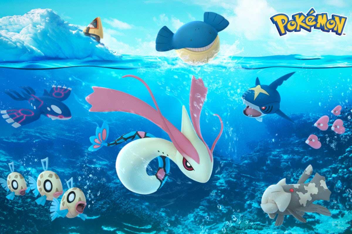 Hình ảnh pokemon dưới nước đẹp