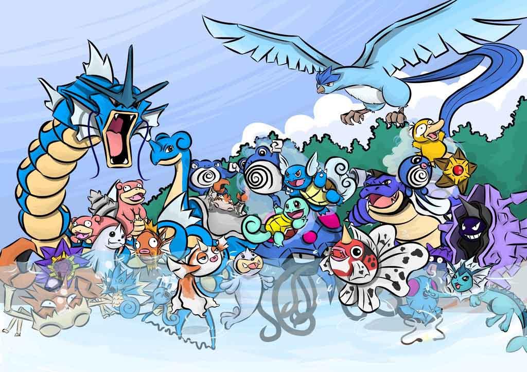 Hình ảnh pokemon hoạt hình hệ nước tiến hóa