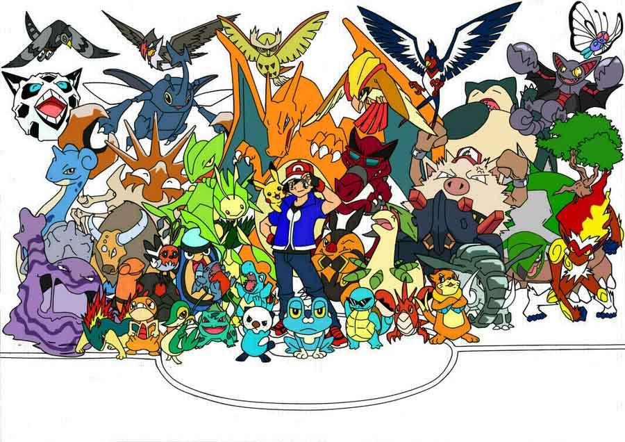 Hình ảnh pokemon huyền thoại của satoshi