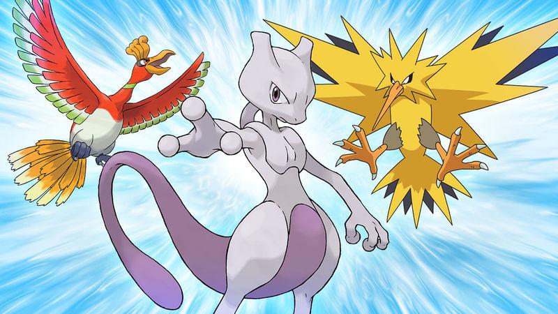 Hình ảnh pokemon huyền thoại