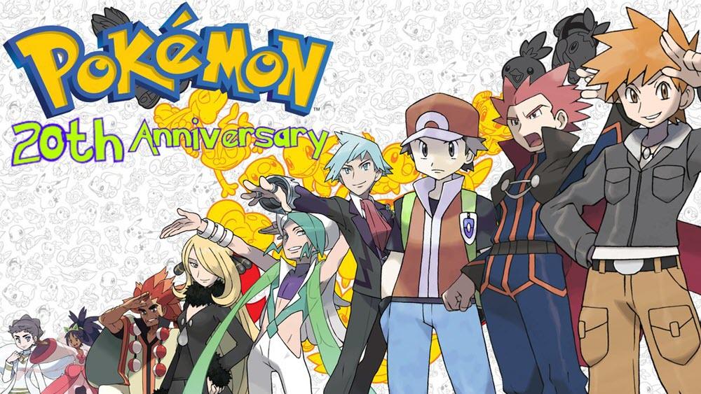Hình ảnh pokemon kỉ niệm 20 năm