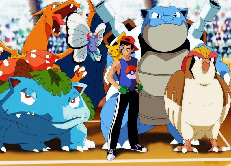Hình ảnh pokemon tiến hóa cùng satoshi
