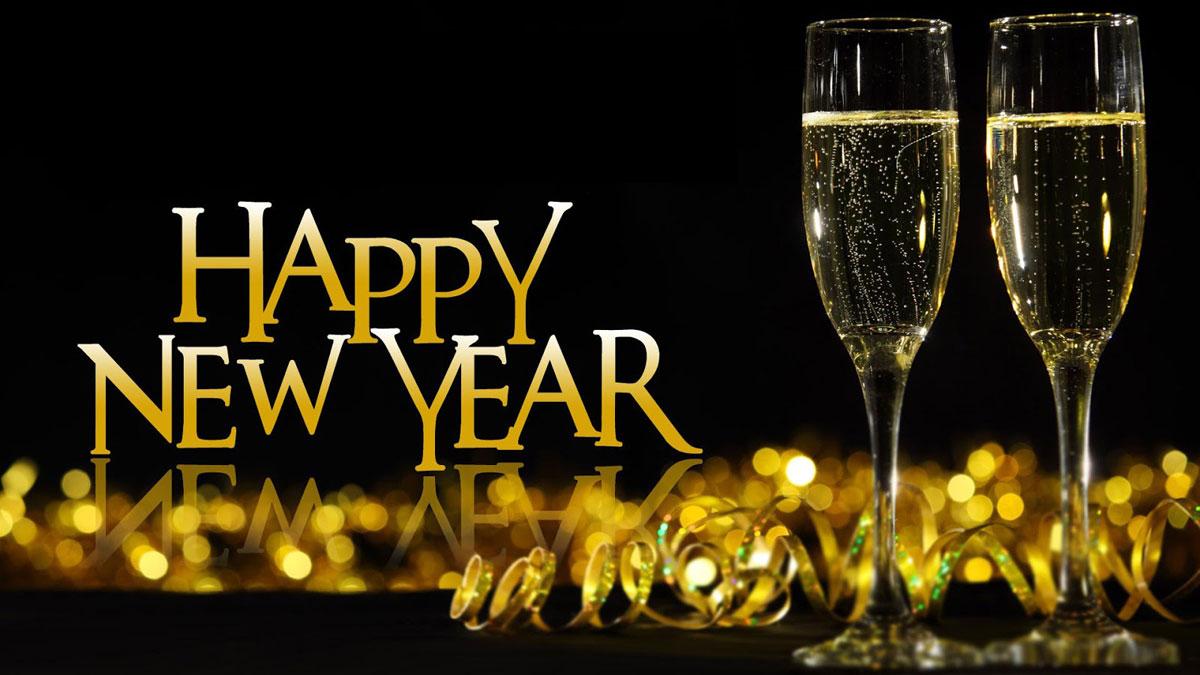 Hình ảnh rượu vàng chào đón năm mới