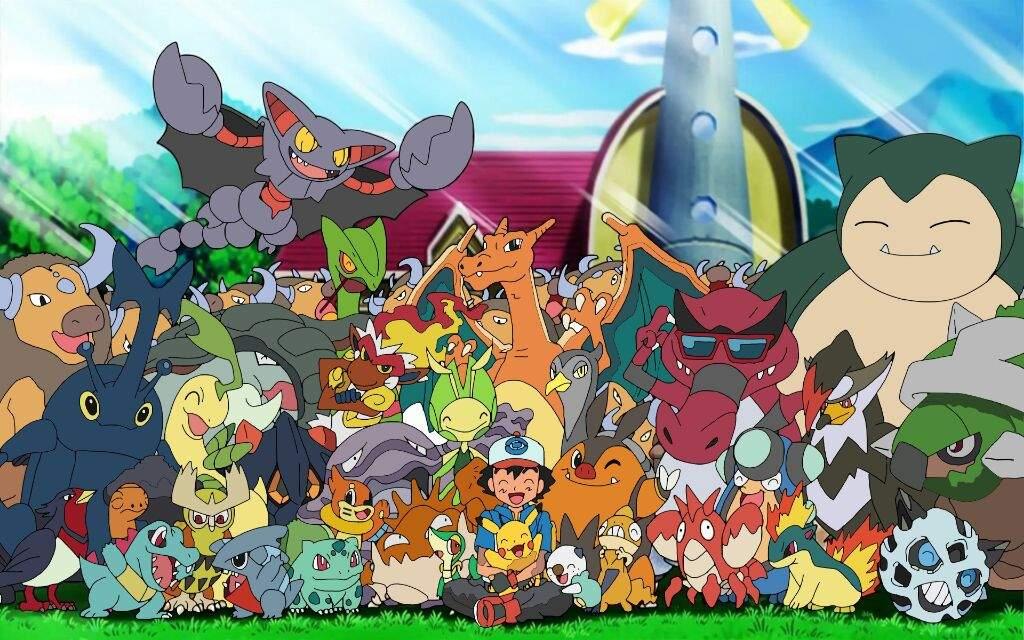 Hình ảnh tất cả pokemon của ash satoshi