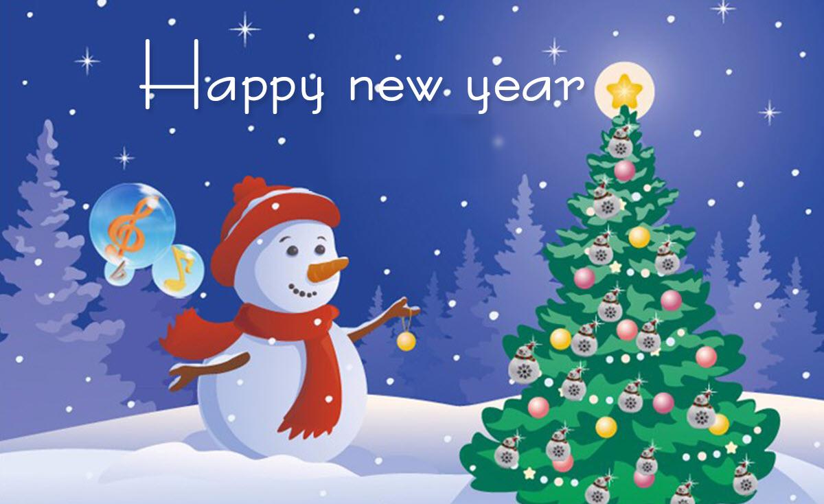 Hình ảnh thiệp Happy New Year đẹp