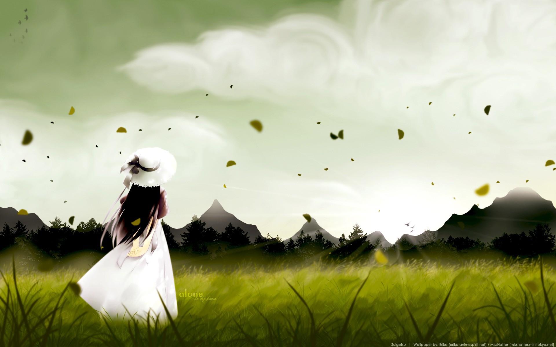 Hình nền cô gái buồn (2)
